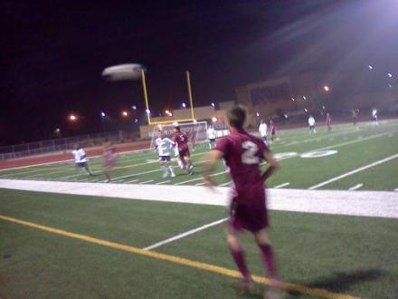 Arlington (maroon kits) could not keep up with King in the season opener. / Dennis Pope Photography