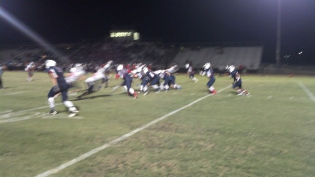 La Sierra did not advance the ball past the 50 in a 34-0 loss to Riverside King on Friday, Sept. 13, 2013 at Alvord District Stadium.