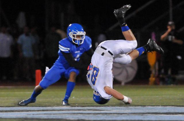 Norco (4-1) upended Serrano (3-2) in Week 5. / Photo by DAVID PARDO for Victorville Daily Press