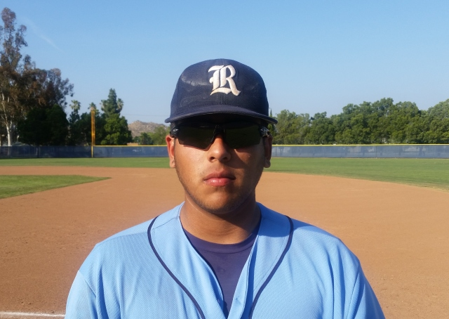 Riverside Ramona senior 3B Rigo Cano (.323 BA, 25 RBIs) is among Inland Area leaders with six HRs.