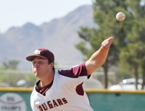 Apple Valley Granite Hills senior left-hander Miles Sandum