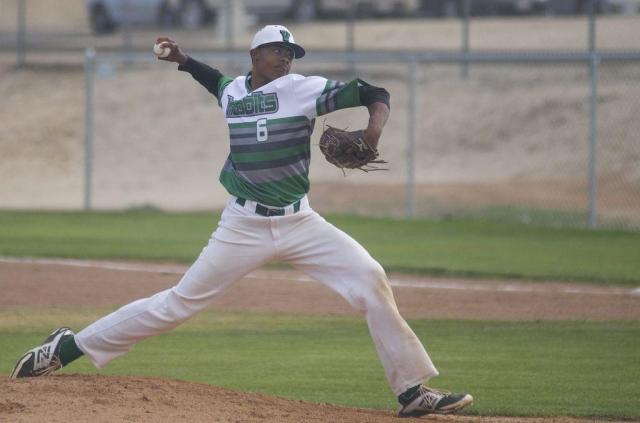 Victor Valley senior right-hander Reggie Lawson